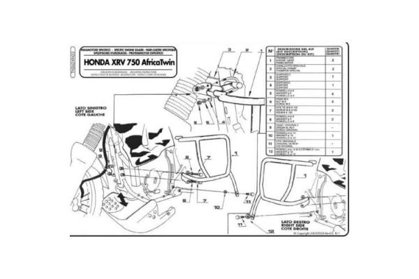 GMOLE OSŁONY SILNIKA HONDA AFRICA TWIN XRV 750 (TN362) 93/03 KN23
