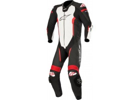 Kombinezon MISSILE LEATHER SUIT TECH AIR BAG COMPATIBLE Black/White/Red