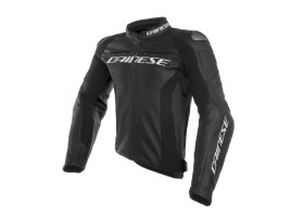 Kurtka skórzana DAINESE RACING 3 LEATHER JACKET NERO / NERO / NERO