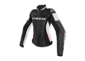 Kurtka DAINESE RACING 3 LADY LEATHER JACKET BLACK/WHITE/FUCHSIA