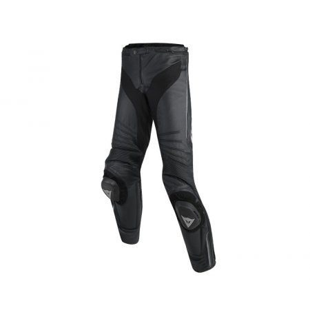 Spodnie DAINESE MISANO LEATHER PANTS BLACK/WHITE/RED-FLUO