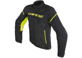 Kurtka DAINESE AIR FRAME D1 TEX JACKET BLACK/BLACK/YELLOW-FLUO