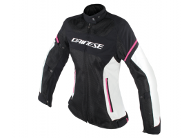Kurtka DAINESE AIR FRAME D1 LADY TEX JACKET BLACK/VAPOROUS-GRAY/FUXIA