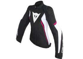 Kurtka DAINESE AVRO D2 TEX LADY JACKET BLACK/WHITE/FUXIA