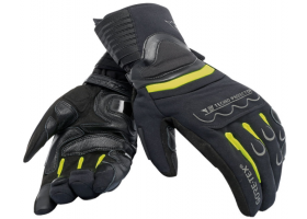 Rękawice DAINESE SCOUT 2 UNISEX GORE-TEX GLOVES BLACK/FLUO YELLOW