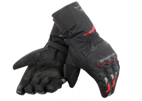 Rękawice DAINESE TEMPEST UNISEX D-DRY LONG GLOVE BLACK/RED