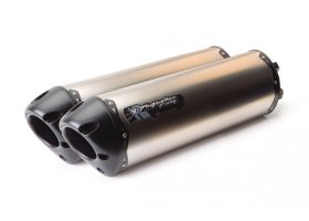 Tłumik typu Slip-On Suzuki GSX-R1000 09/15 Dual M2 Black Titanium REF: 005-2420408DV-B