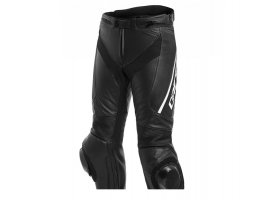 Spodnie DAINESE DELTA 3 LEATHER PANTS Perforowane BLACK/BLACK/WHITE