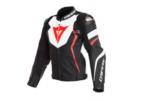 Kurtka DAINESE AVRO 4 LEATHER JACKET BLACK/RED/WHITE