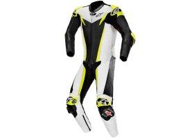 Kombinezon skórzany Alpinestars GP Tech V3 1-Piece Leather Suit Tech-Air® Compatible Black/White/Yellow Fluo