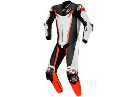 Kombinezon skórzany Alpinestars GP Tech V3 1-Piece Leather Suit Tech-Air® Compatible White/Black/Red Fluo