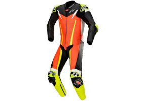 Kombinezon skórzany Alpinestars GP Tech V3 1-Piece Leather Suit Tech-Air® Compatible Red Fluo/Black/Yellow Fluo