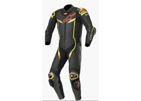 Kombinezon skórzany Alpinestars GP Pro V2 1-Piece Suit Tech-Air® Compatible Black/Metal Gray/Yellow Fluo