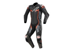 Kombinezon skórzany Alpinestars GP Pro V2 1-Piece Suit Tech-Air® Compatible Black/Camo/Red Fluo