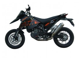 690 Supermoto 07/> Full kit steel collector + titanium silencer CAT